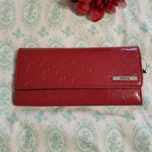 Kenneth Cole Reaction red clutch